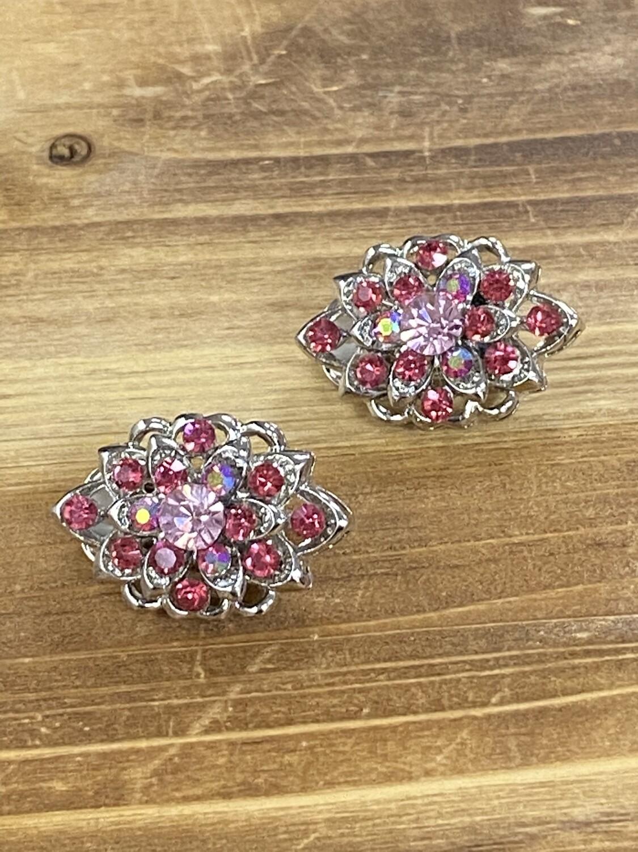 Pink Clip On Earrings