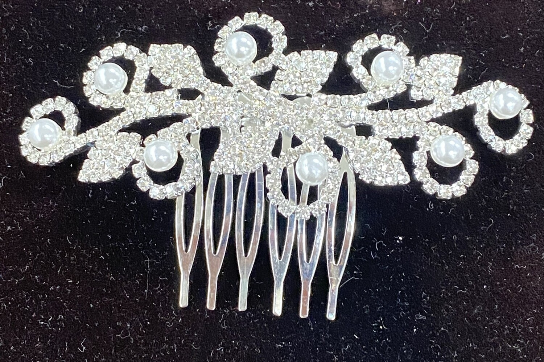 Pearl Rhinestone Haircomb