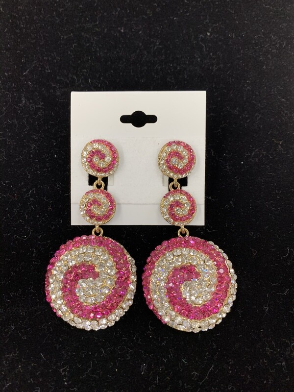 Fuchsia Circle Earrings