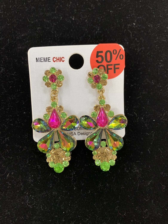 Multicolor Stone Formal Earrings