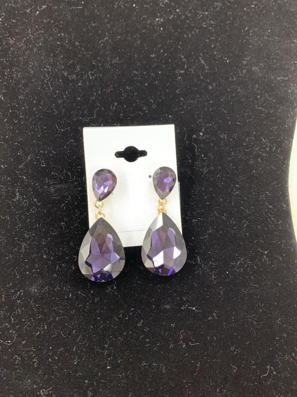 Small Purple Formal Earrings