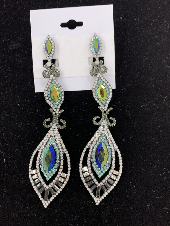 Peacock Long Earring