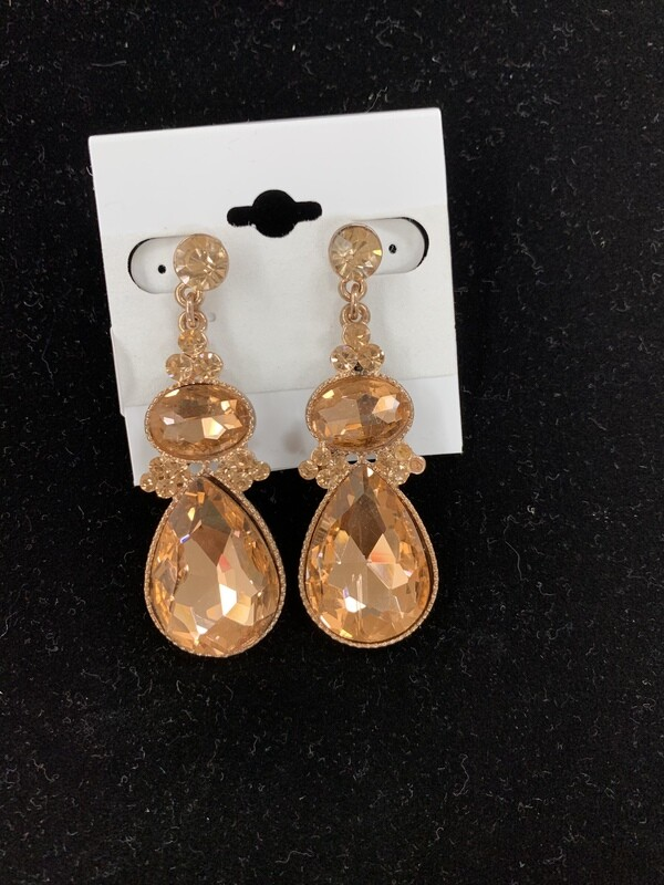 Rose Gold Drop Formal Earrings