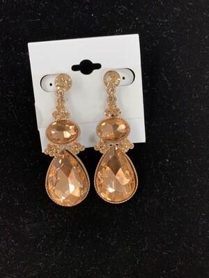 Formal Earrings Rose Gold Drop