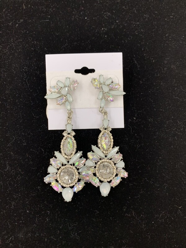 Minty Blue Formal Earrings