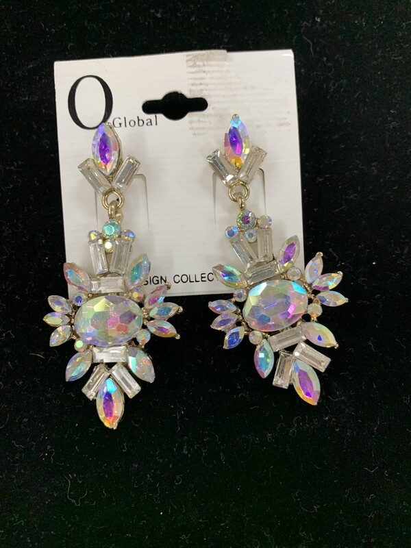 Silver AB Pageant Earring