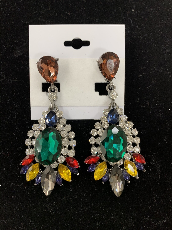 Green Drop Pageant Earrings