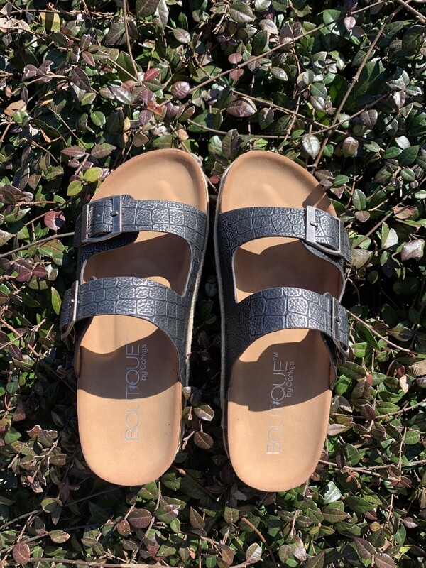 King Pewter Sandals