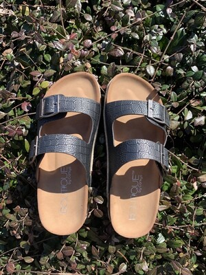 King Pewter Sandals
