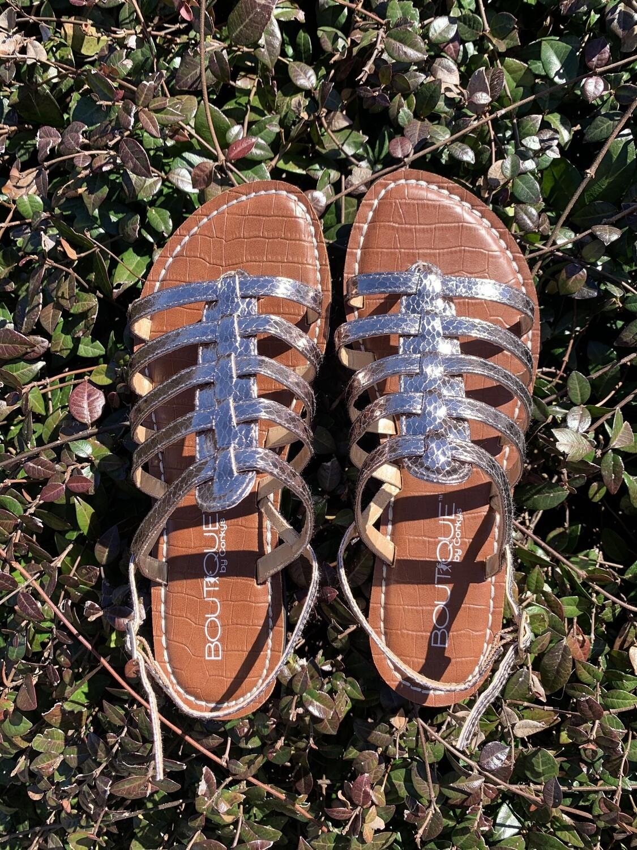 Baker Pewter Sandals