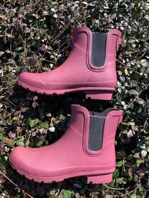Roma Ankle Boots - Maroon