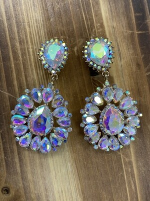 Clip On AB Earrings
