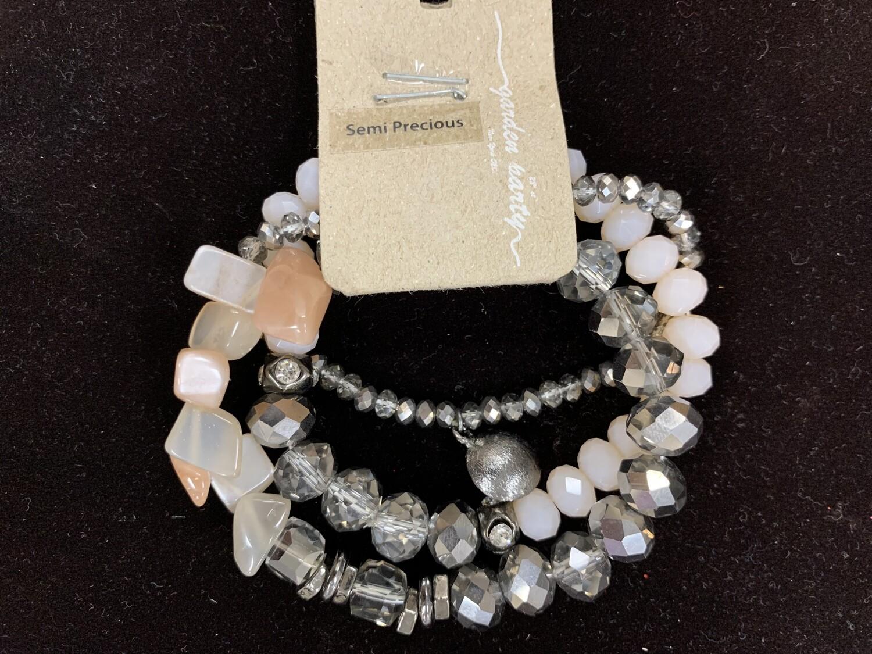 Baby Pink Stone Bead Bracelet