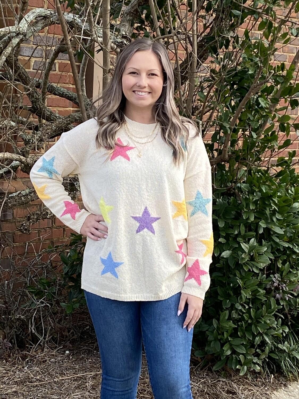 Star Multi-color Knit Sweater