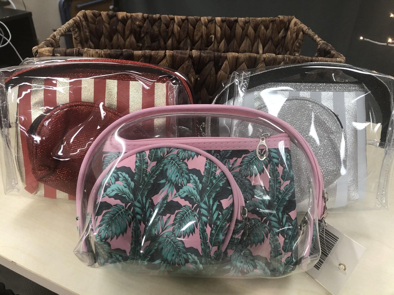 3pc Make Up Bag Set