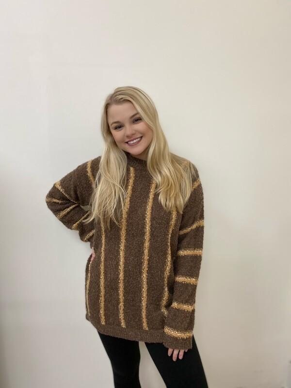 Mocha Striped Sweater