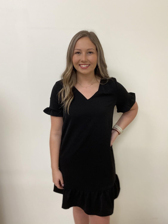 Black Shift Dress W/lining