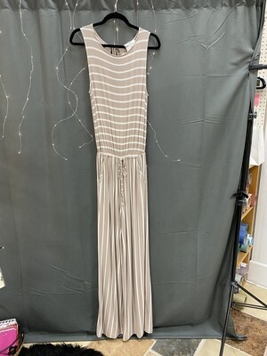 Taupe/Ivory Jumper Striped