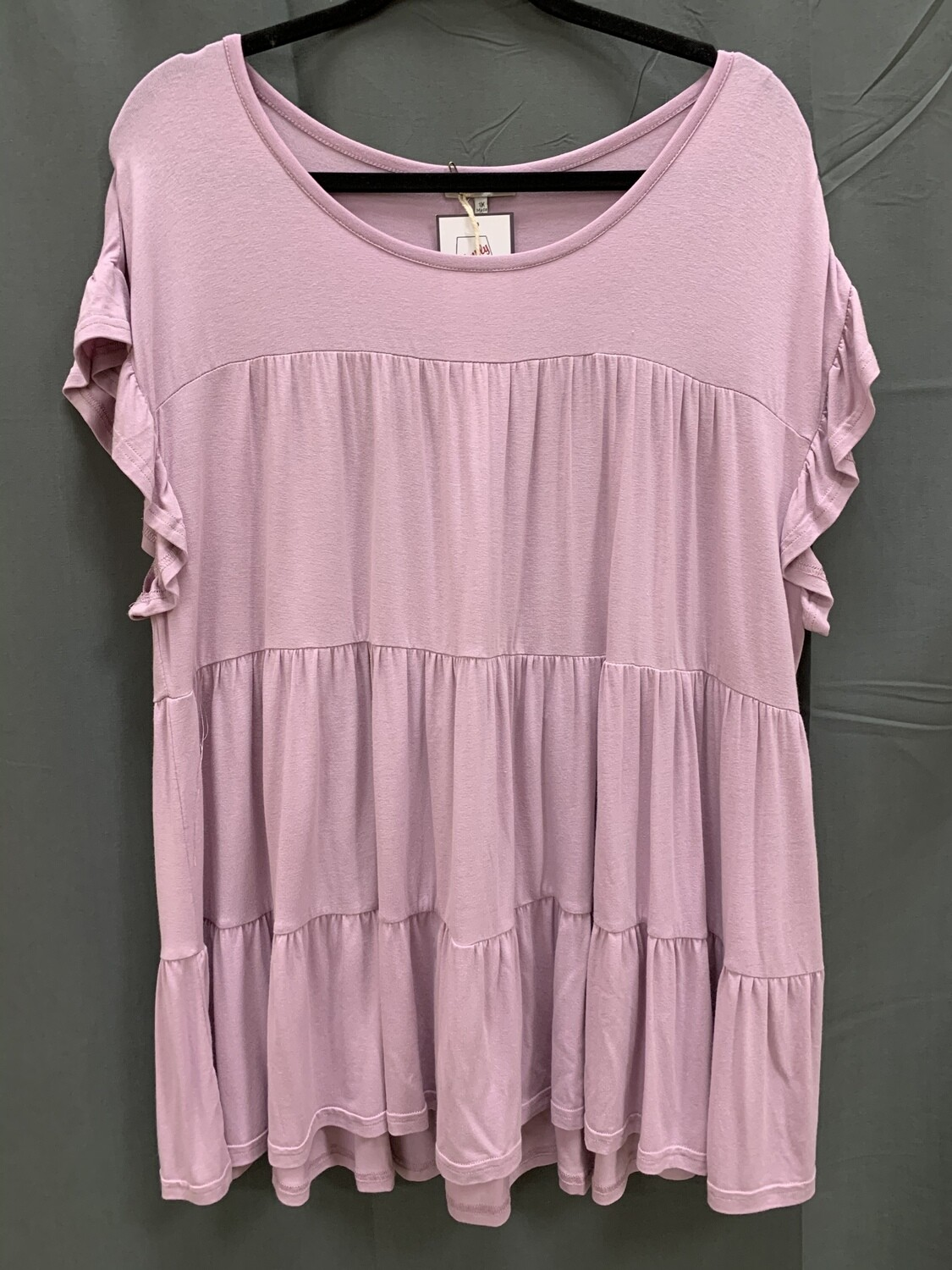 Plus Babydoll Lilac Top