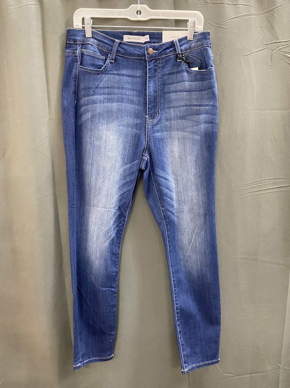 Dark Wash Basic Skinny Jeans (Plus)