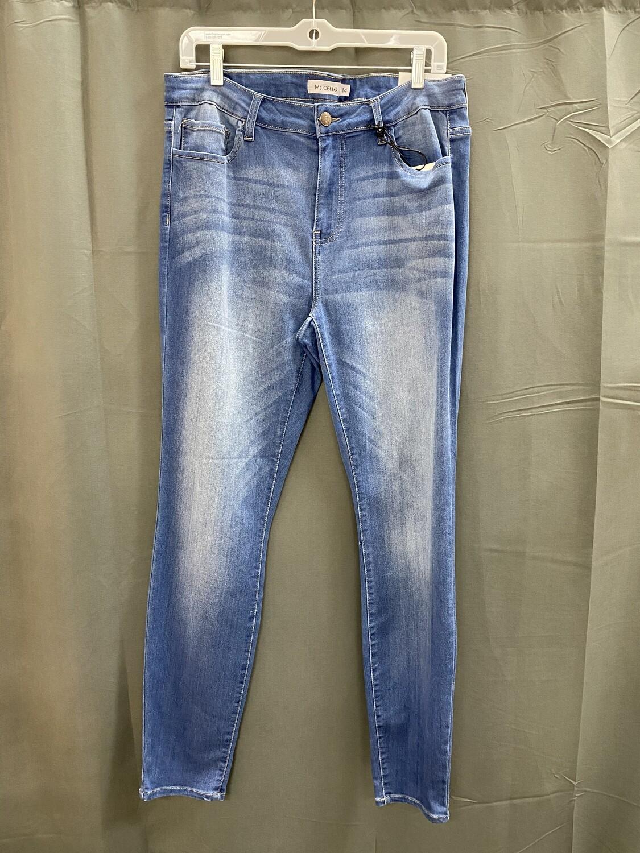 Med Wash Basic Skinny Jeans (Plus)