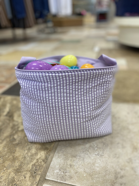Seersucker Easter Basket