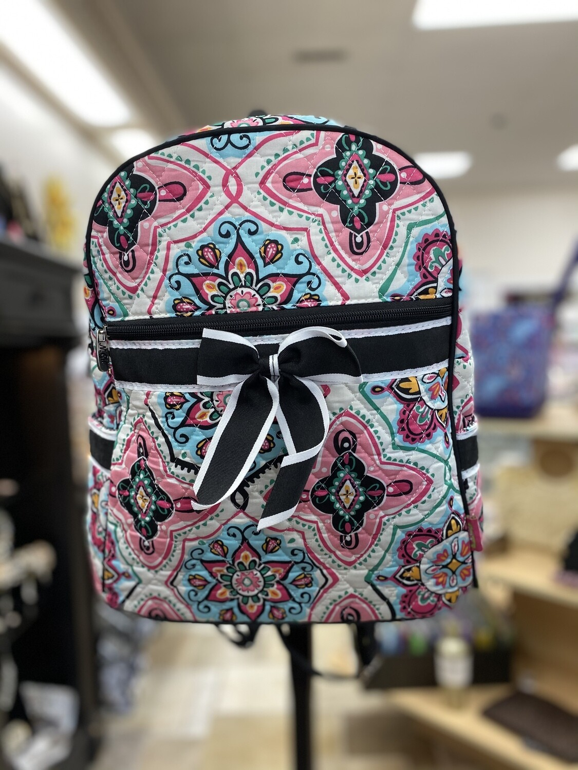 Quilted Floral Misc Backpack