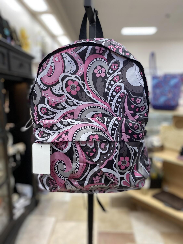 Black/Pink Hearts Backpack