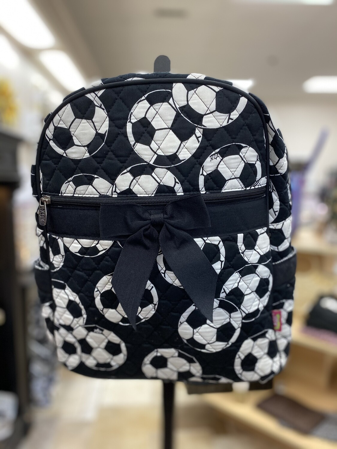 Quilted Soccer Backpack