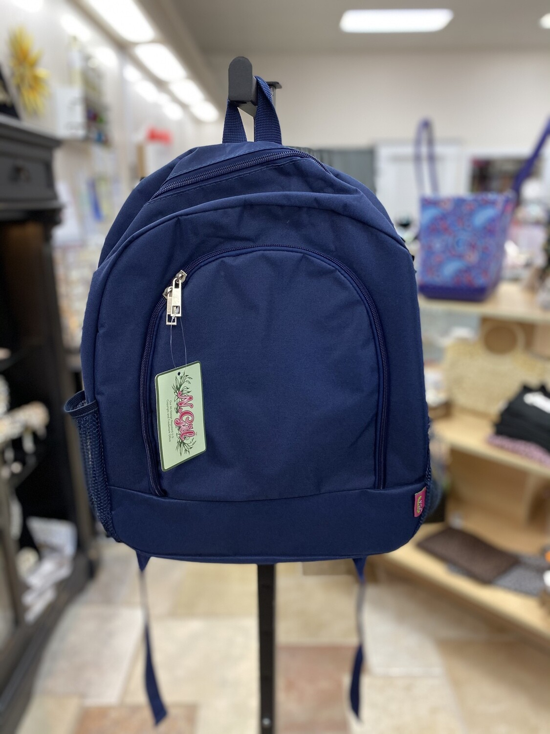 Solid Navy Backpack
