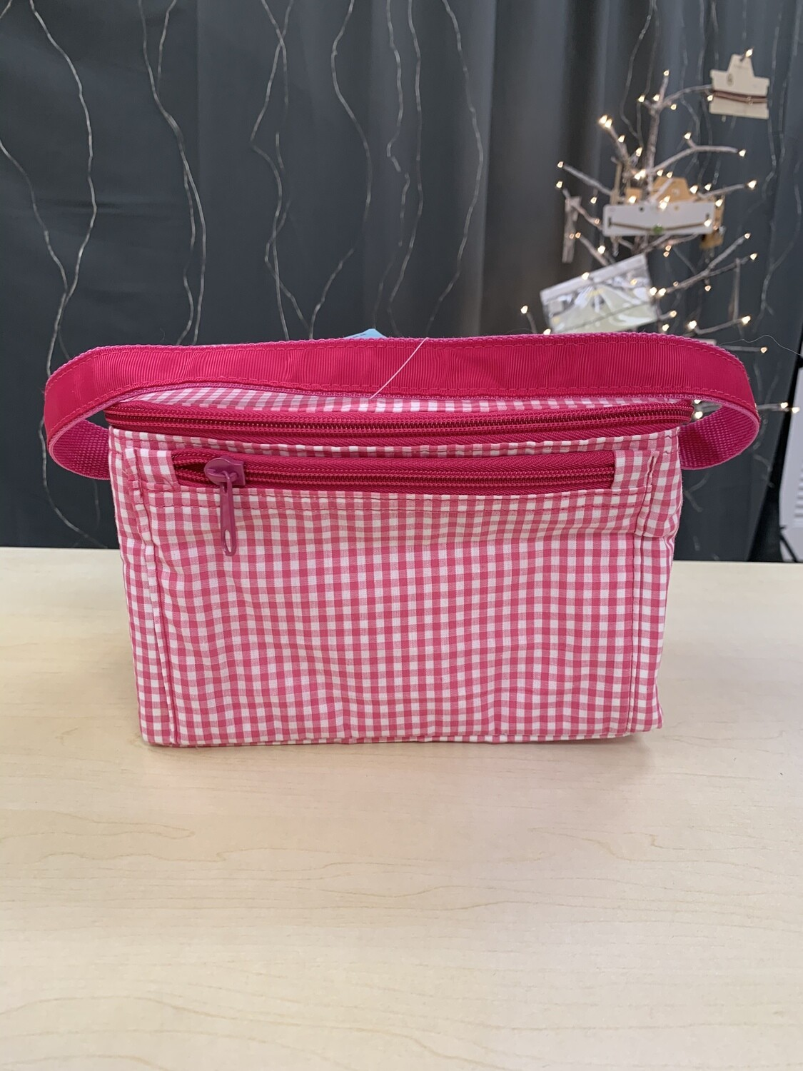 Hot Pink Gingham Lunchbox