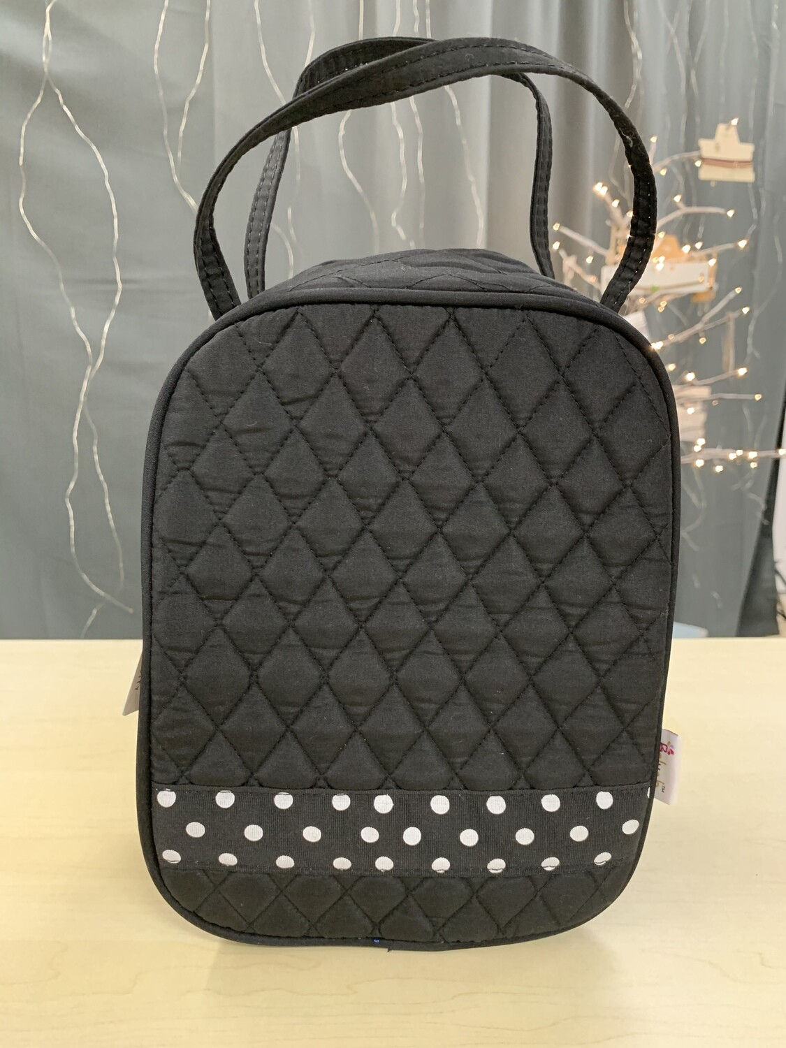 Black Quilted Lunch Box