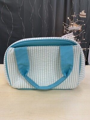 Blue Seersucker Lunchbox
