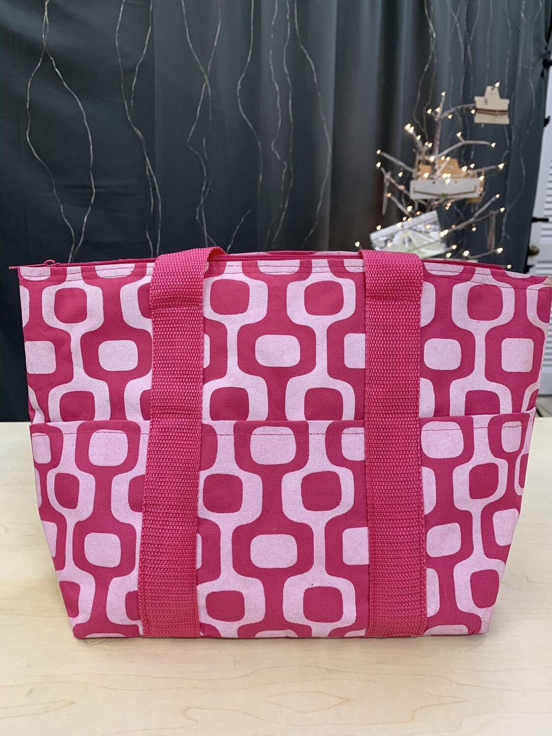 Large Pink Lunch Tote