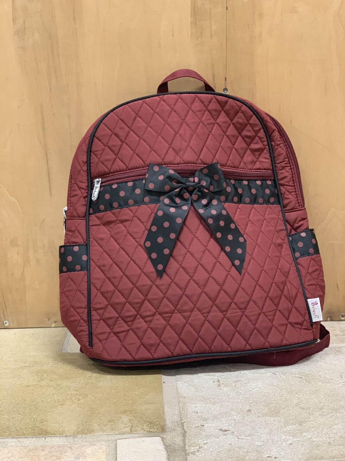 Red/Black Quilted Backpack