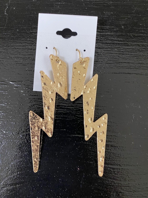 Long Lighting Bolt Earrings