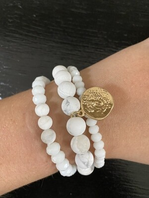 Multi Strand White Bracelet
