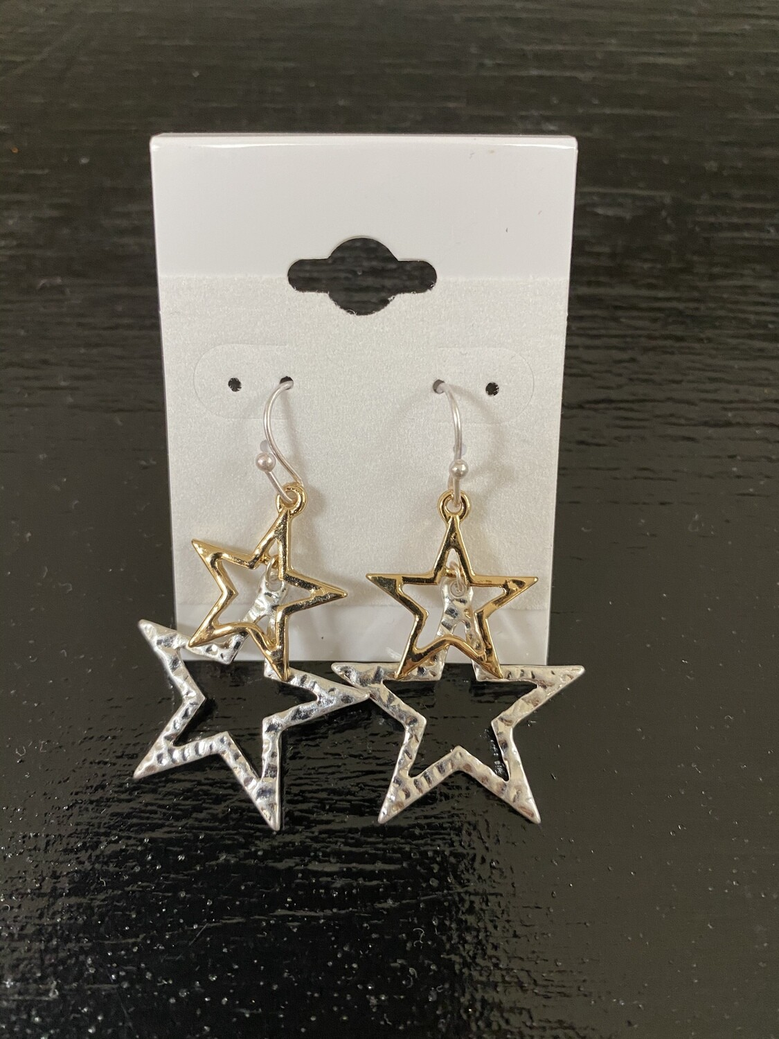 Two Layer Star Earrings