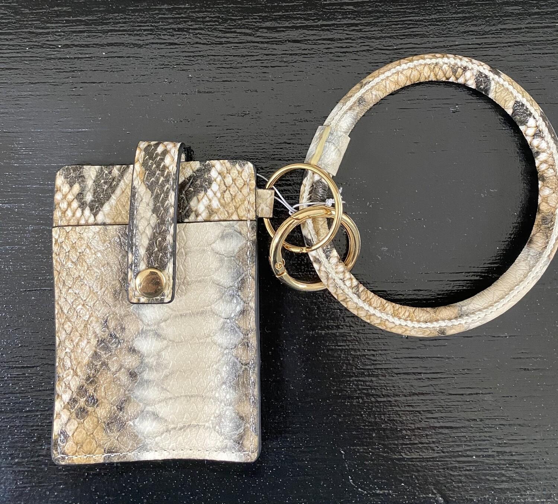 Single Card Holder Bangle Wallet