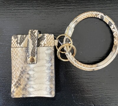 Single Card Holder Bangle Wallet