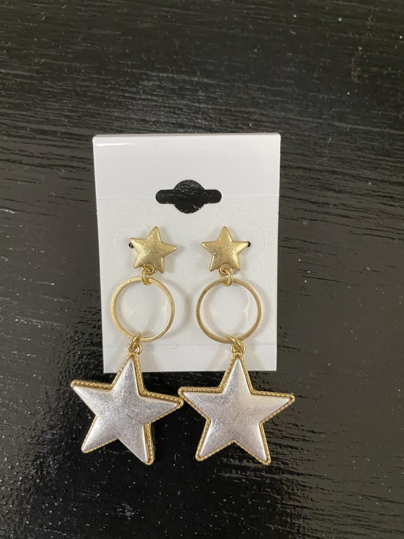 Loop Star Earrings