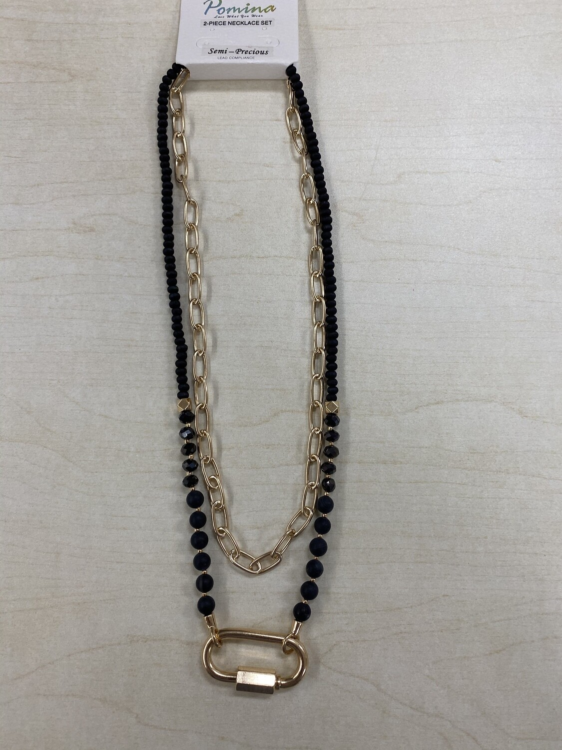 Beaded Chain Two Piece Necklace