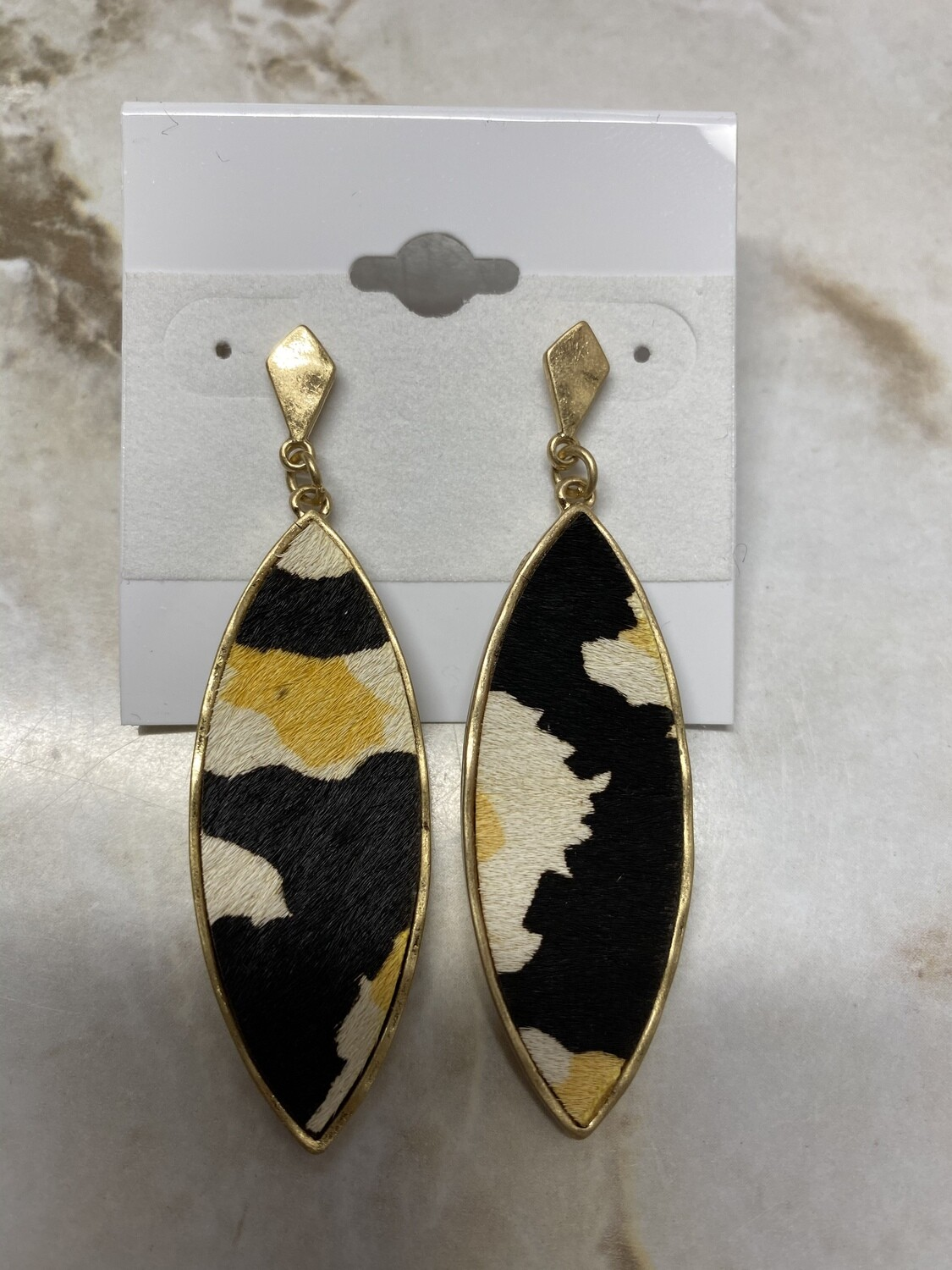 Printed Oval Earrings