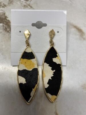 Printed Oval Earrings