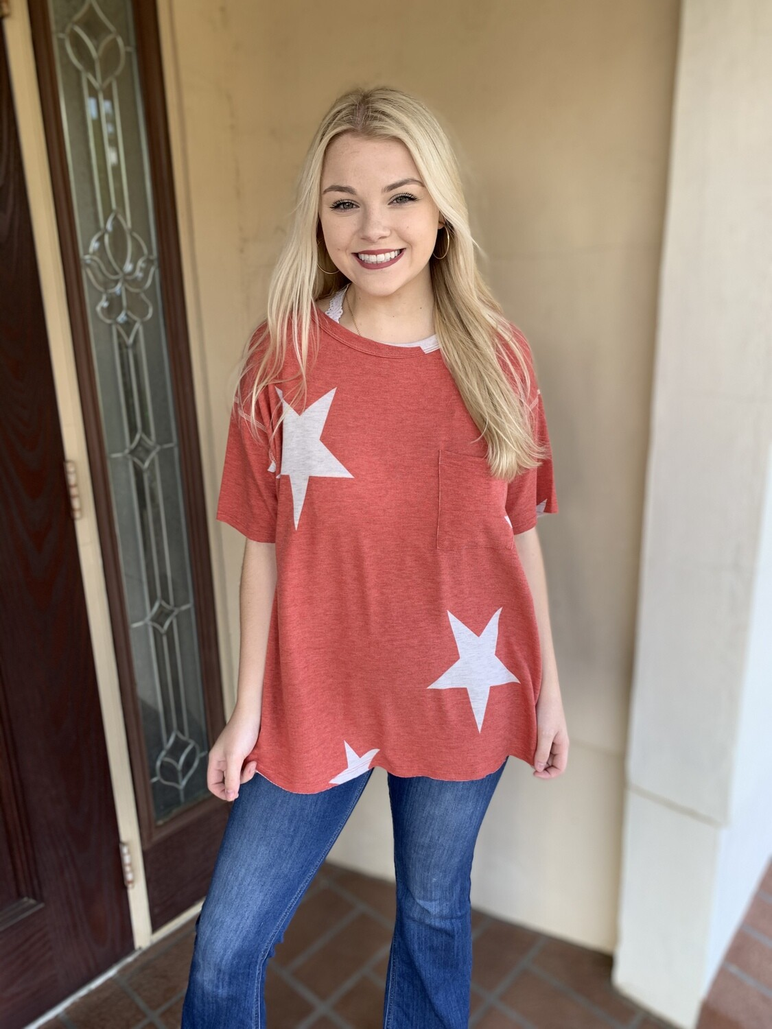 Red Star Short Sleeve Top