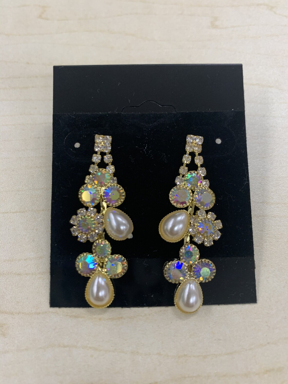 Formal Earrings Gold AB with Pearl