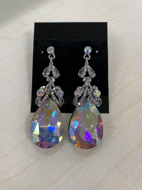 Formal Earrings Silver AB Loops
