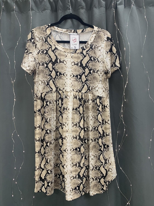 Brown Snakeskin Dress