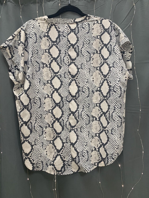Grey Snakeskin Top