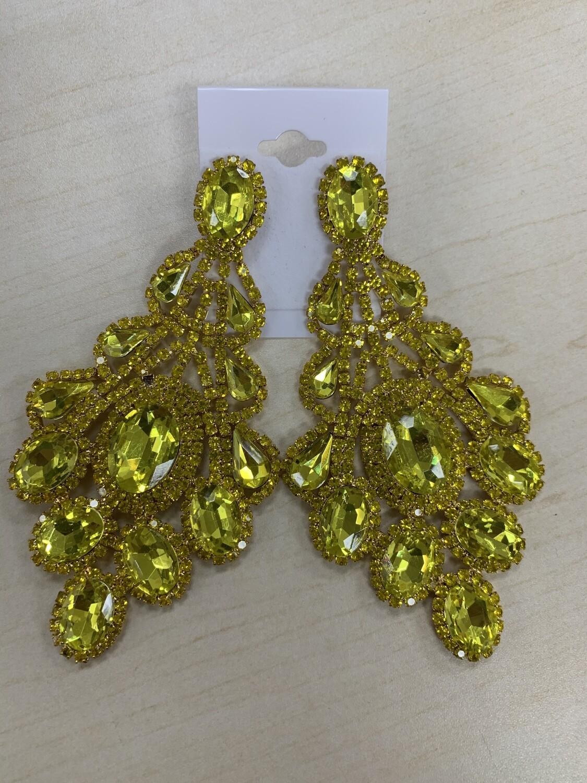 Formal Earrings Yellow XL